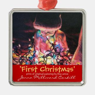 初めてのクリスマスのオーナメント メタルオーナメント