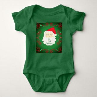 初めてのクリスマスのサンタの私の一つ。 赤ん坊 ベビーボディスーツ