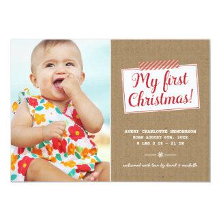 初めてのクリスマス|の休日の写真カード カード