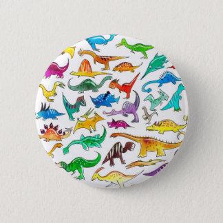 「初心者のための恐竜」ボタンのバッジ 5.7CM 丸型バッジ
