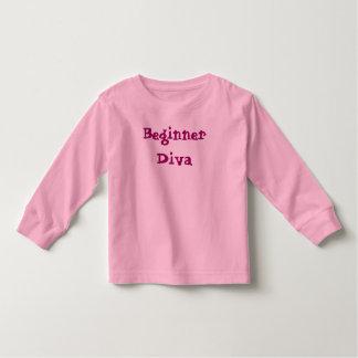 初心者の花型女性歌手のワイシャツ トドラーTシャツ