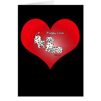 初恋のハートのバレンタインカード カード