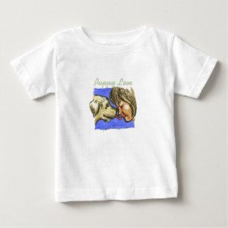 """""""初恋""""の-ベビーの素晴らしいジャージーのTシャツ ベビーTシャツ"""