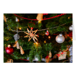 初期のなクリスマスツリーは挨拶状を飾ります カード