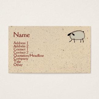初期のなヒツジの名刺 名刺