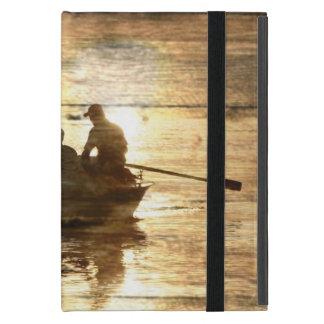 初期のな国湖のボートのカヌーの魚釣り iPad MINI ケース