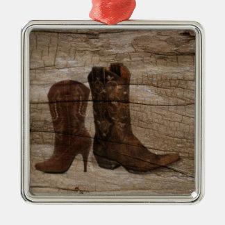 初期のな木製の穀物の西欧諸国のカウボーイ・ブーツ メタルオーナメント
