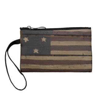初期のな木製の米国旗 コインパース
