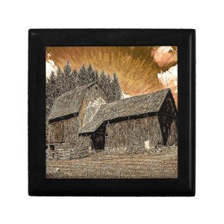 初期のな西欧諸国の農家の古い納屋 ギフトボックス