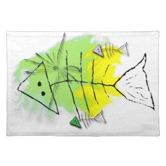 初期のな魚のランチョンマット ランチョンマット