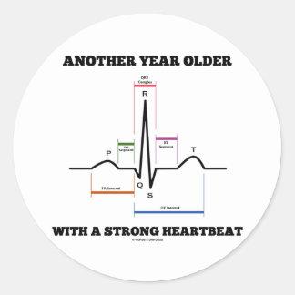 別のもの 年 より古い 強い 心拍 ECG/EKG 丸形シールステッカー