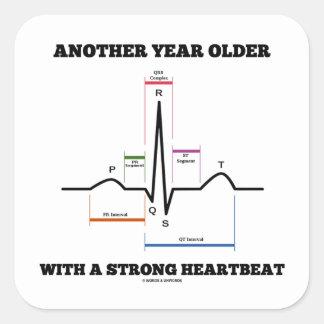 別のもの 年 より古い 強い 心拍 ECG/EKG 正方形シールステッカー