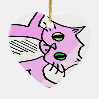 別のピンク猫か。 セラミックオーナメント