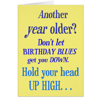 別の年より古いか。 誕生日の青無し カード