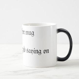別の愚かなことわざを用いるちょうど別のマグの… マジックマグカップ