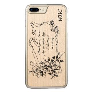 """""""別の日の間の主""""、のメモのデザインありがとう CARVED iPhone 8 PLUS/7 PLUS ケース"""