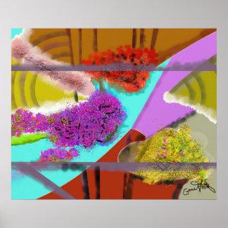 別の春の抽象芸術 ポスター