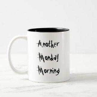 別の月曜の朝のガーゴイル ツートーンマグカップ