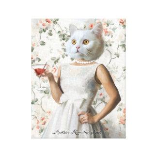 別の猫の鳴き声Tini、お願いします キャンバスプリント