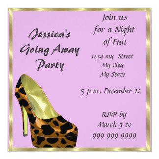 別れのパーティの招待状のさようならピンク カード