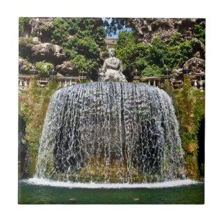 別荘D'Esteの噴水 タイル