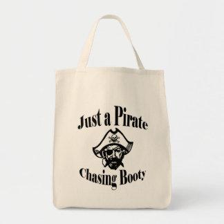 利得を追跡しているちょうど海賊 トートバッグ