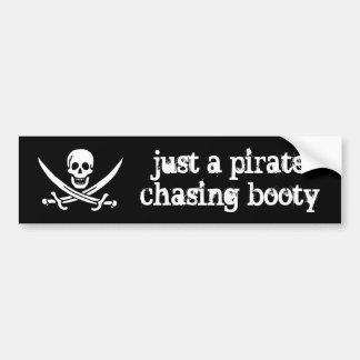 利得を追跡しているちょうど海賊 バンパーステッカー