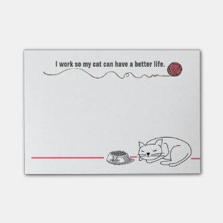 利発な猫のユーモアのポスト・イット ポストイット