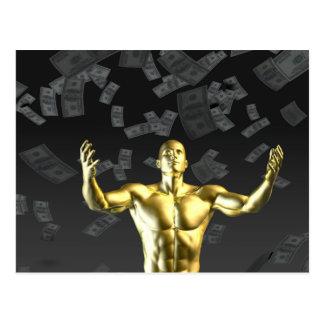 利益かお金を作成することは人と容易に利益を得ます ポストカード