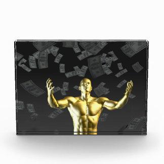 利益かお金を作成することは人と容易に利益を得ます 表彰盾