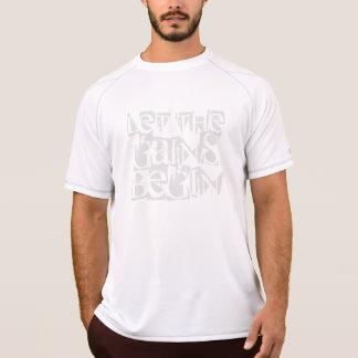 利益が男子チャンピオンの乾燥した網のティーを始めるようにして下さい Tシャツ