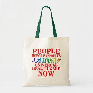 利益のヘルスケアのデザインの前の人々 トートバッグ