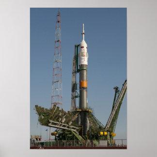 到着の直後Soyuzのロケット ポスター