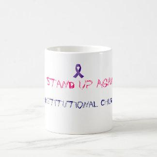 制度上の乱用のコーヒーカップに抵抗して下さい コーヒーマグカップ