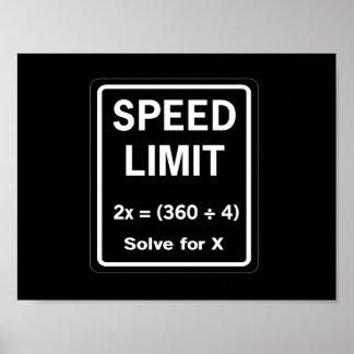制限速度の数学 ポスター