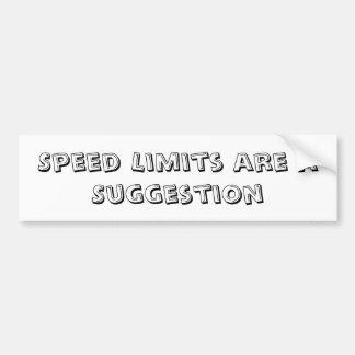 制限速度はちょうど提案のバンパーステッカーです バンパーステッカー