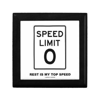 制限速度ゼロの残りは私の最高速度の印です ギフトボックス