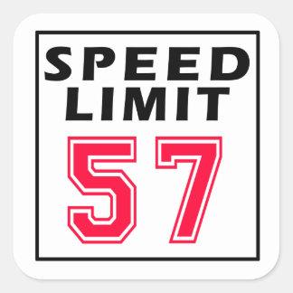 制限速度57の誕生日のデザイン スクエアシール