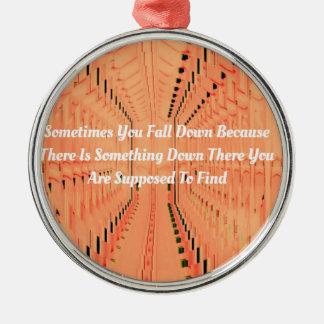 刺激とトンネルを掘るオレンジ目の錯覚 メタルオーナメント