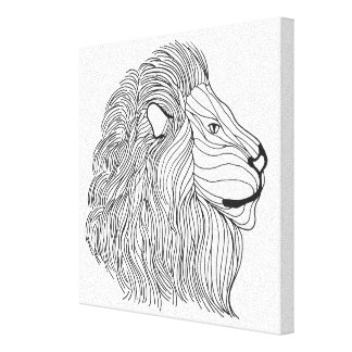 刺激を受けたなライオンの頭部30 キャンバスプリント