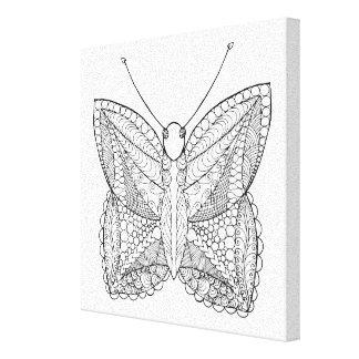 刺激を受けたな熱帯デザインの蝶6 キャンバスプリント