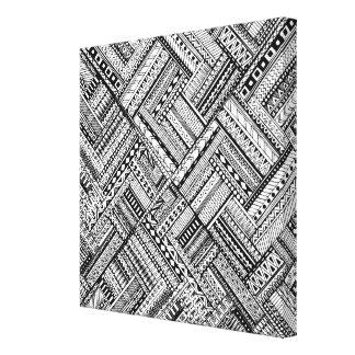 刺激を受けたな種族の芸術パターン6 キャンバスプリント