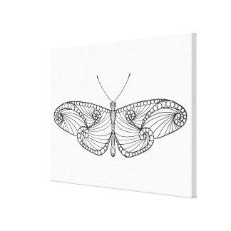 刺激を受けたな蝶芸術6 キャンバスプリント