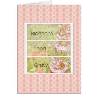 刺激を受けたなHollyhockの花柄 カード