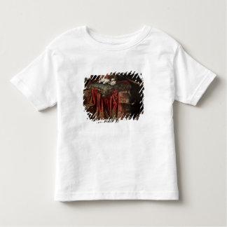 刺繍されたクッションでつくスパニエル犬 トドラーTシャツ