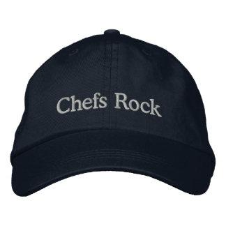 刺繍されたシェフの石の帽子 刺繍入りキャップ