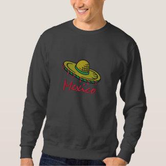 刺繍されたメキシコソンブレロのワイシャツ 刺繍入りスウェットシャツ