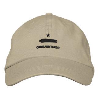 刺繍しました帽子をそれを取ります来て下さい ベースボールキャップ