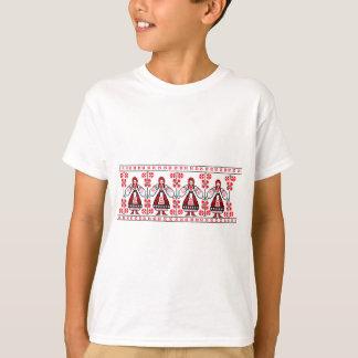 刺繍のウクライナの伝統的なウクライナの女の子 Tシャツ