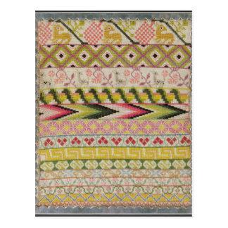 刺繍のサンプラー ポストカード